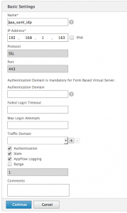 SAML - AAA IdP Server
